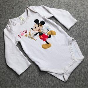 *NWOT* Official Disney Cupid Mickey Vday Onesie